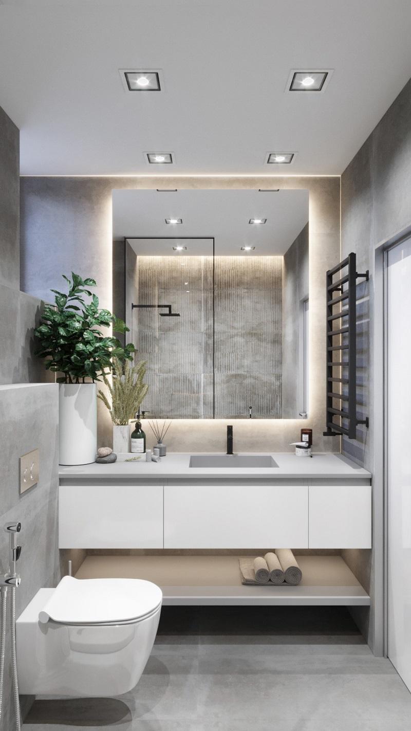 phòng tắm đơn giản mà đẹp