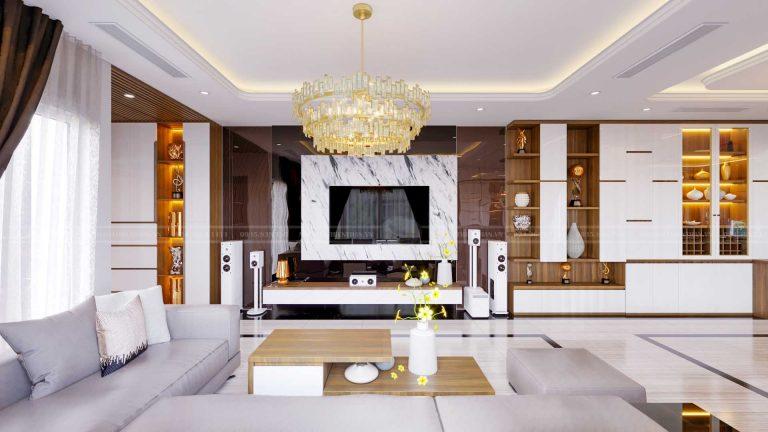 nội thất phòng khách biệt thự hiện đại