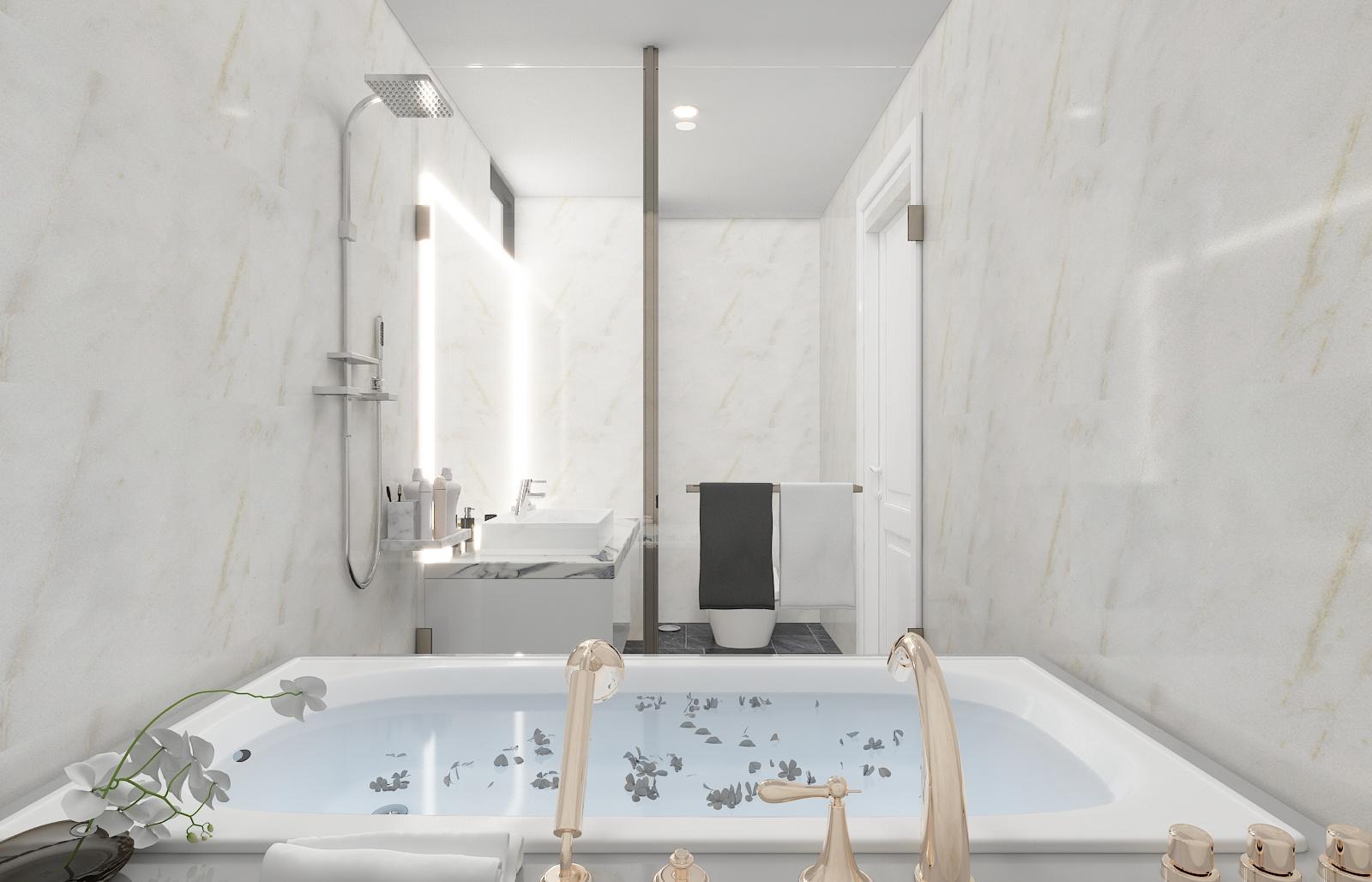phòng tắm hiện đạisang trọng