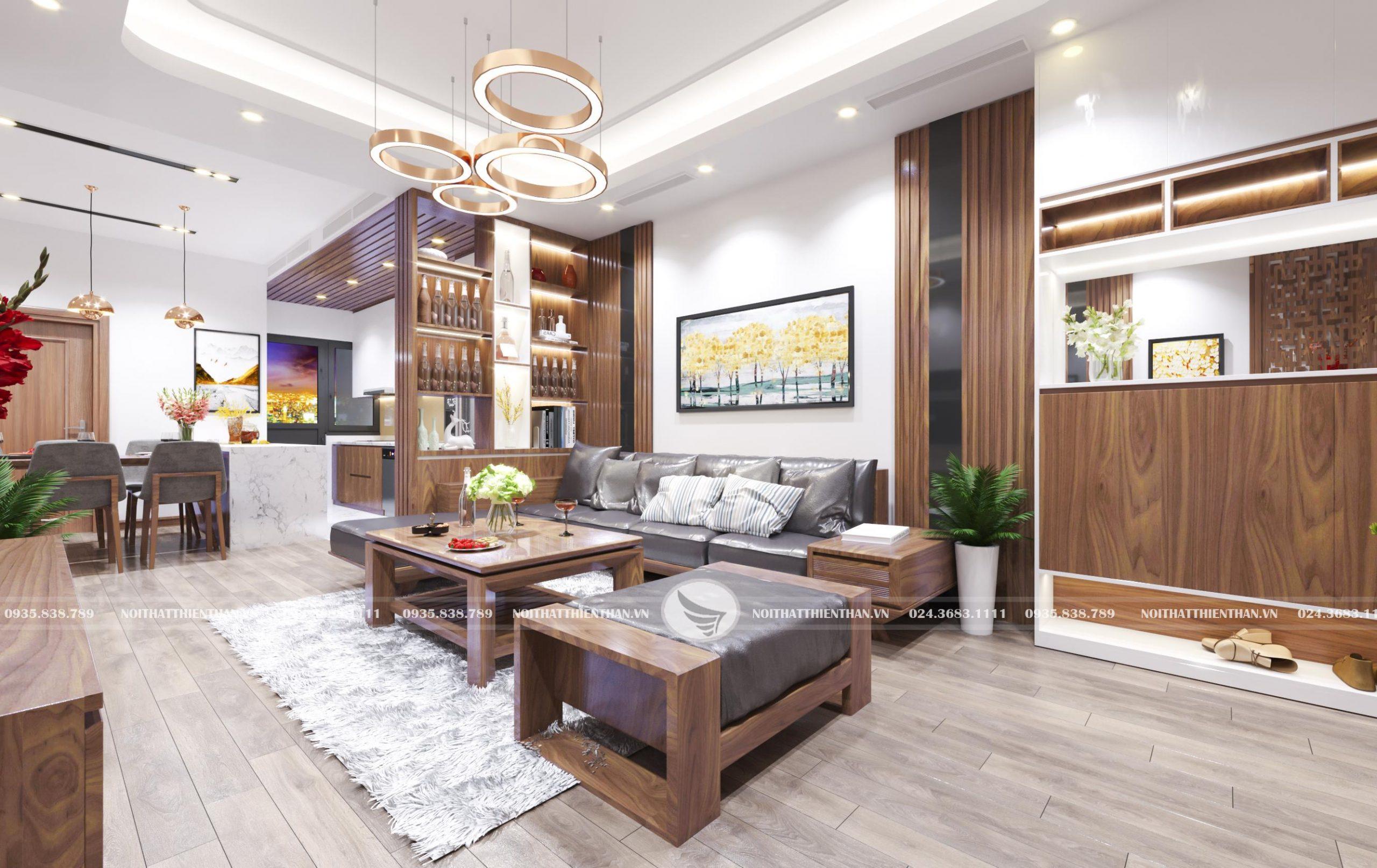 thiết kế phòng khách hiện đại đẹp