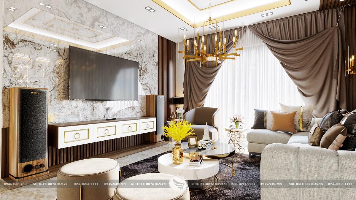 trang trí phòng khách đẹp sang trọng