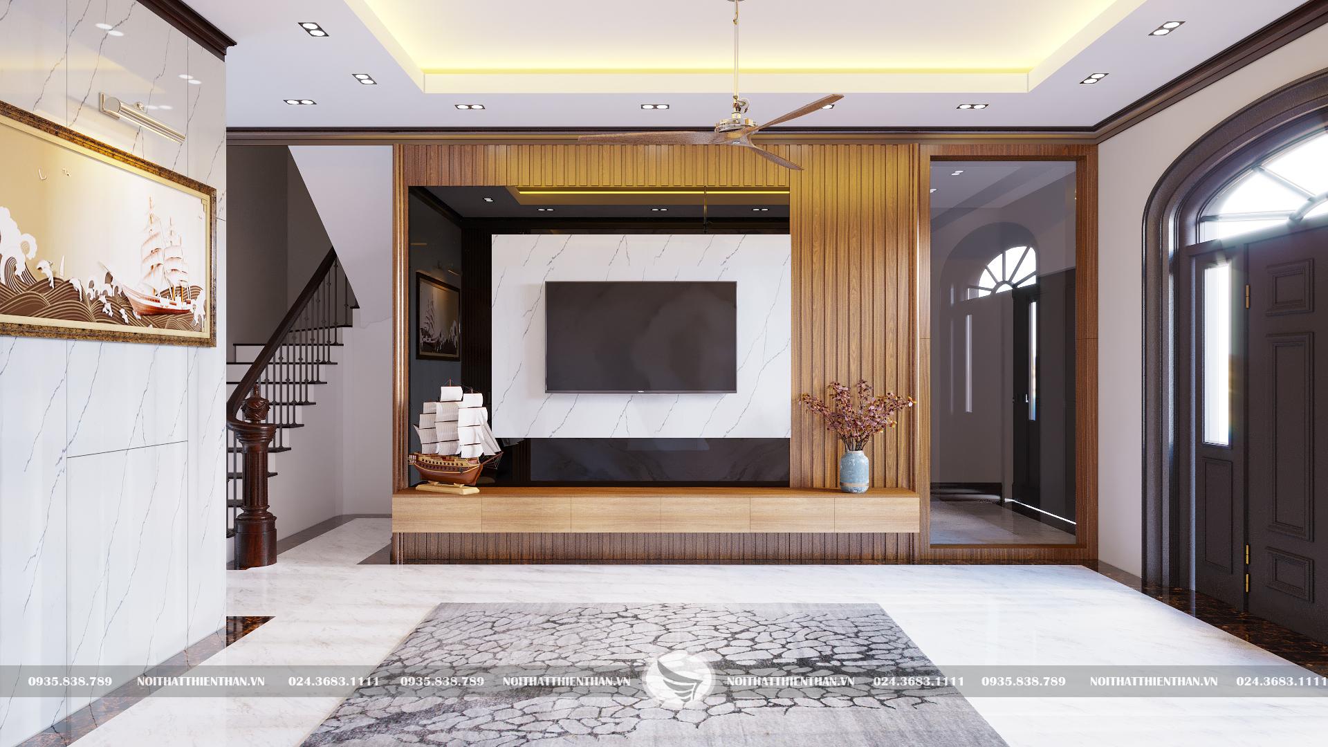 mẫu trang trí phòng khách