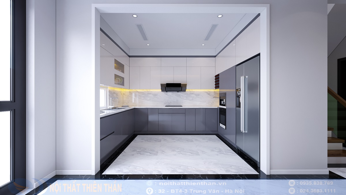 nội thất nhà bếp đẹp biệt thự