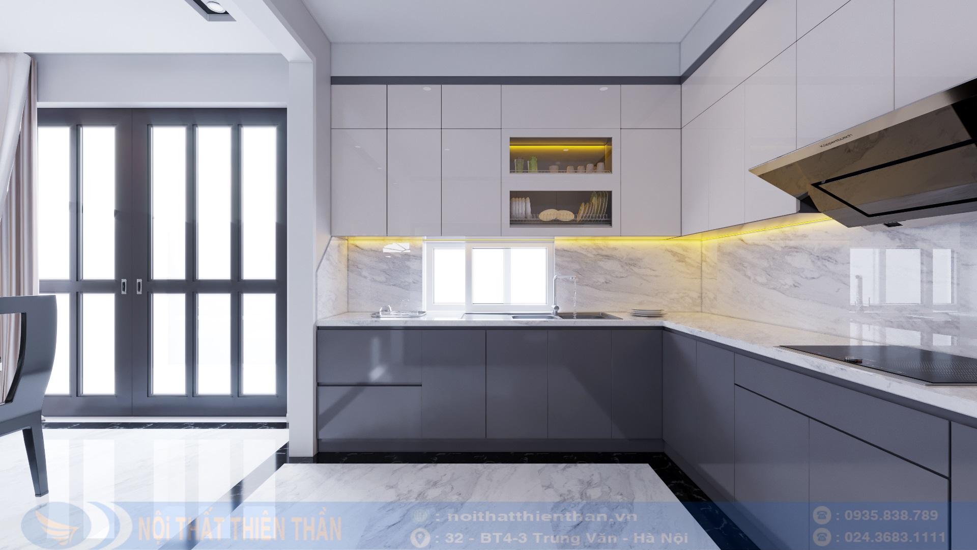 nội thất phòng bếp đẹp biệt thự