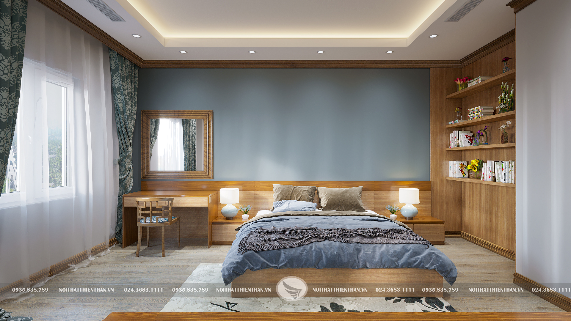bố trí nội thất phòng ngủ