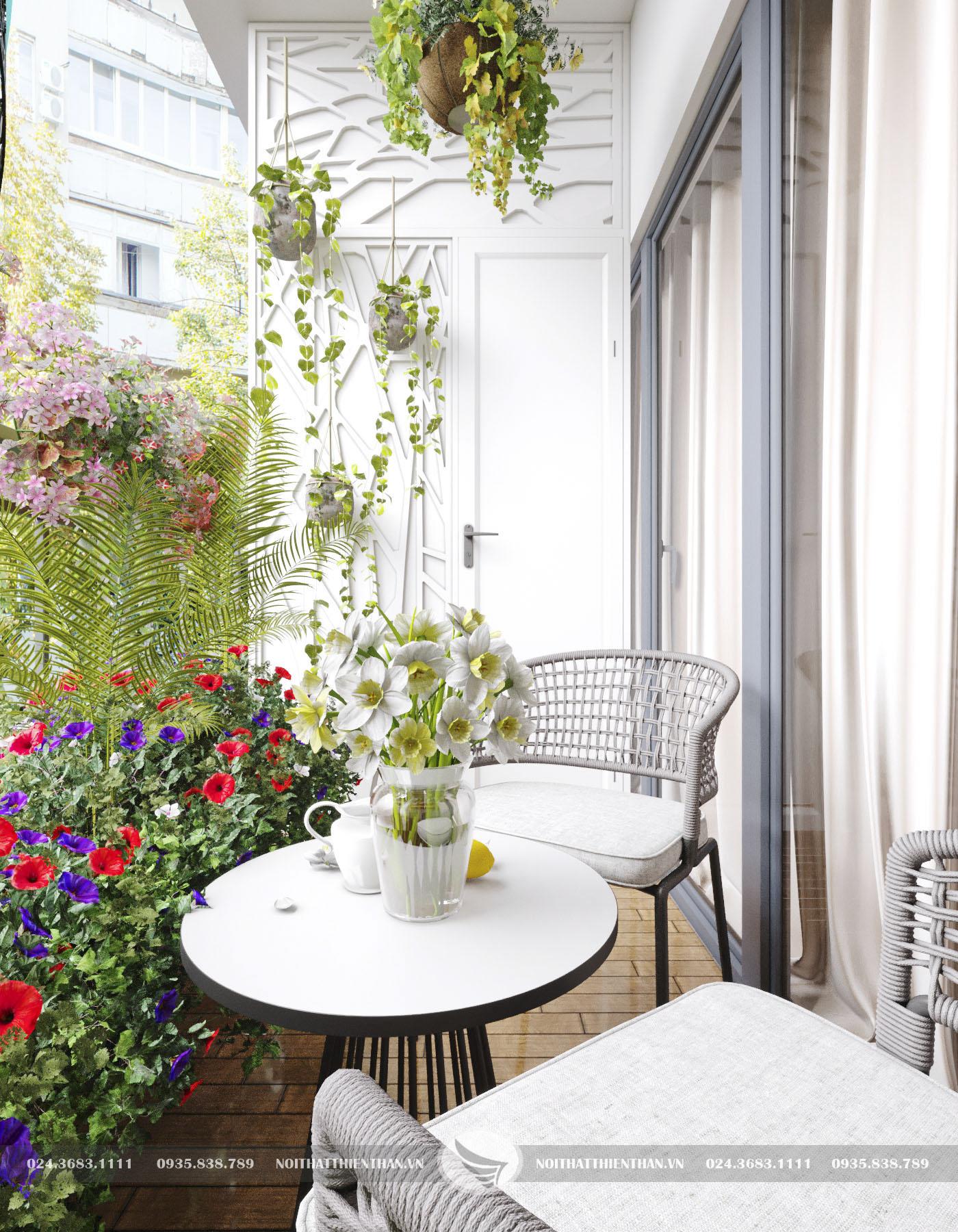 thiết kế căn hộ chung cư đẹp có view ban công cực chất