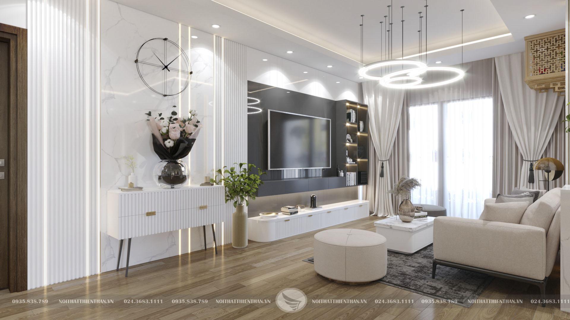 nội thất căn hộ cao cấp có phòng khách đẹp