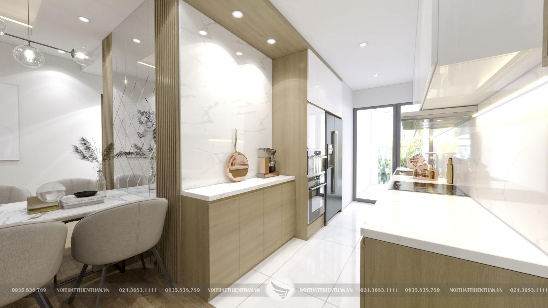 thiết kế nội thất phòng ăn chung cư