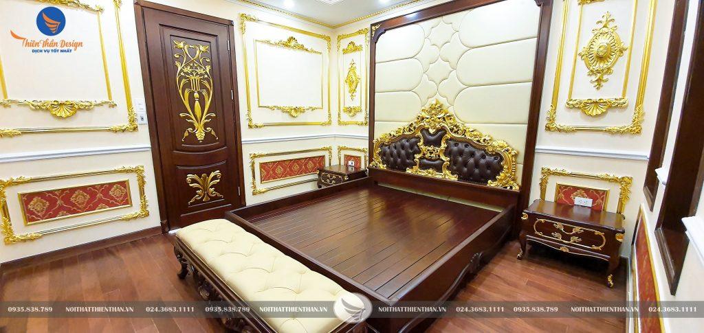 phòng ngủ thiết kế nội thất biệt thựtân cổ điển