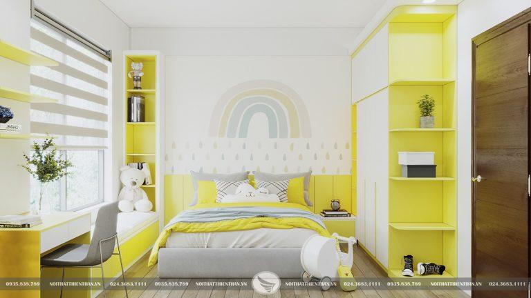 thiết kế phòng ngủ cho bé gái căn hộ cao cấp