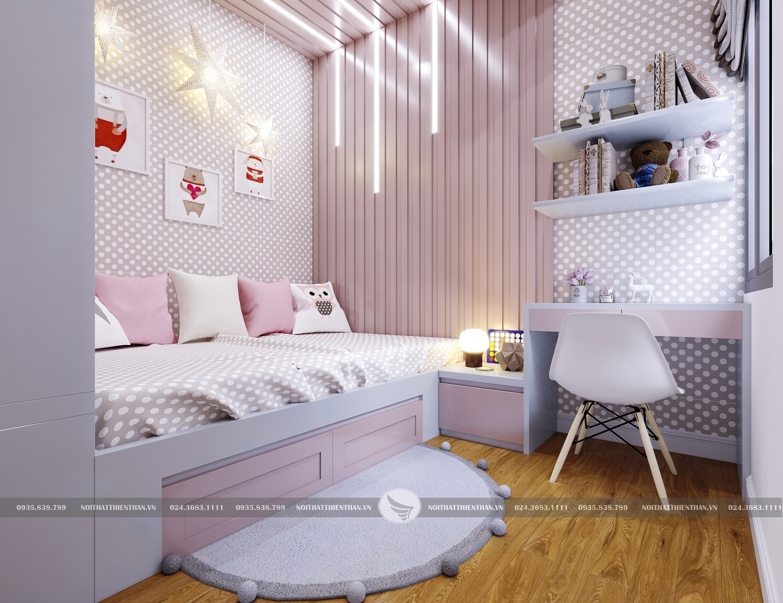 trang trí phòng ngủ cho bé gái đơn giản