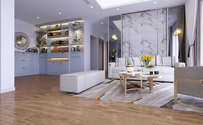 mẫu trang trí nội thất phòng khách căn hộ chung cư