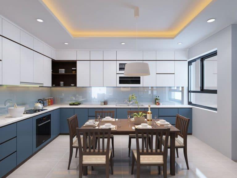 Bạn cần tuân thủ nguyên tắc khi thiết kế nội thất phòng bếp nhà ống.