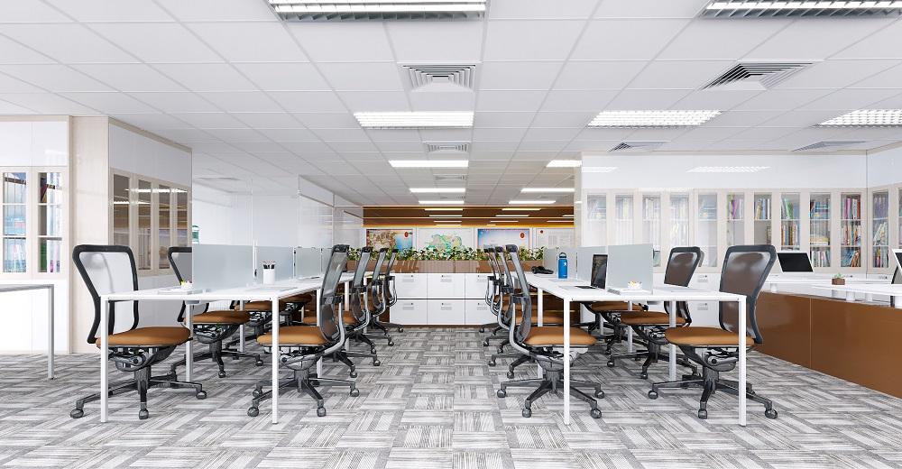 thiết kế văn phòng hiện đại