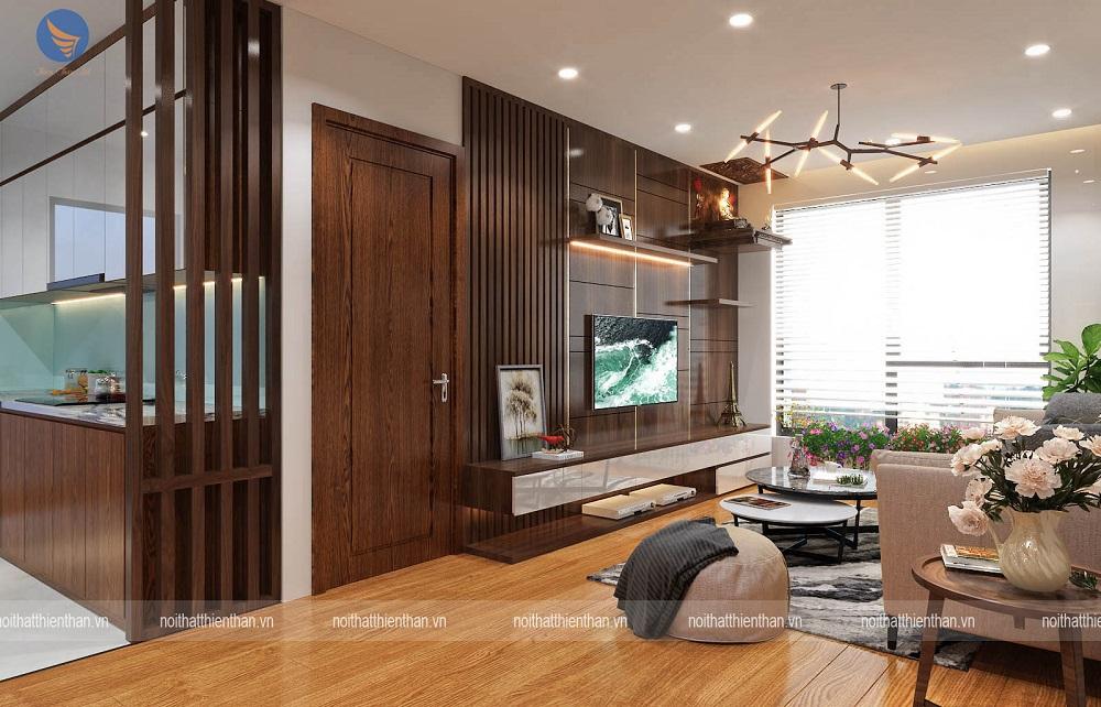 trang trí phòng khách trong căn hộ cao cấp