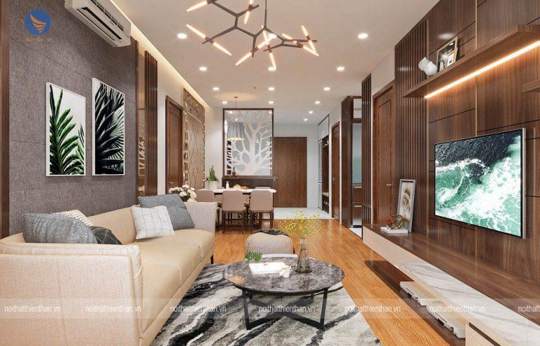 mẫu phòng khách đẹp chung cư cao cấp