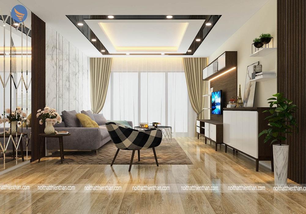 mẫu phòng khách đẹp căn hộ chung cư