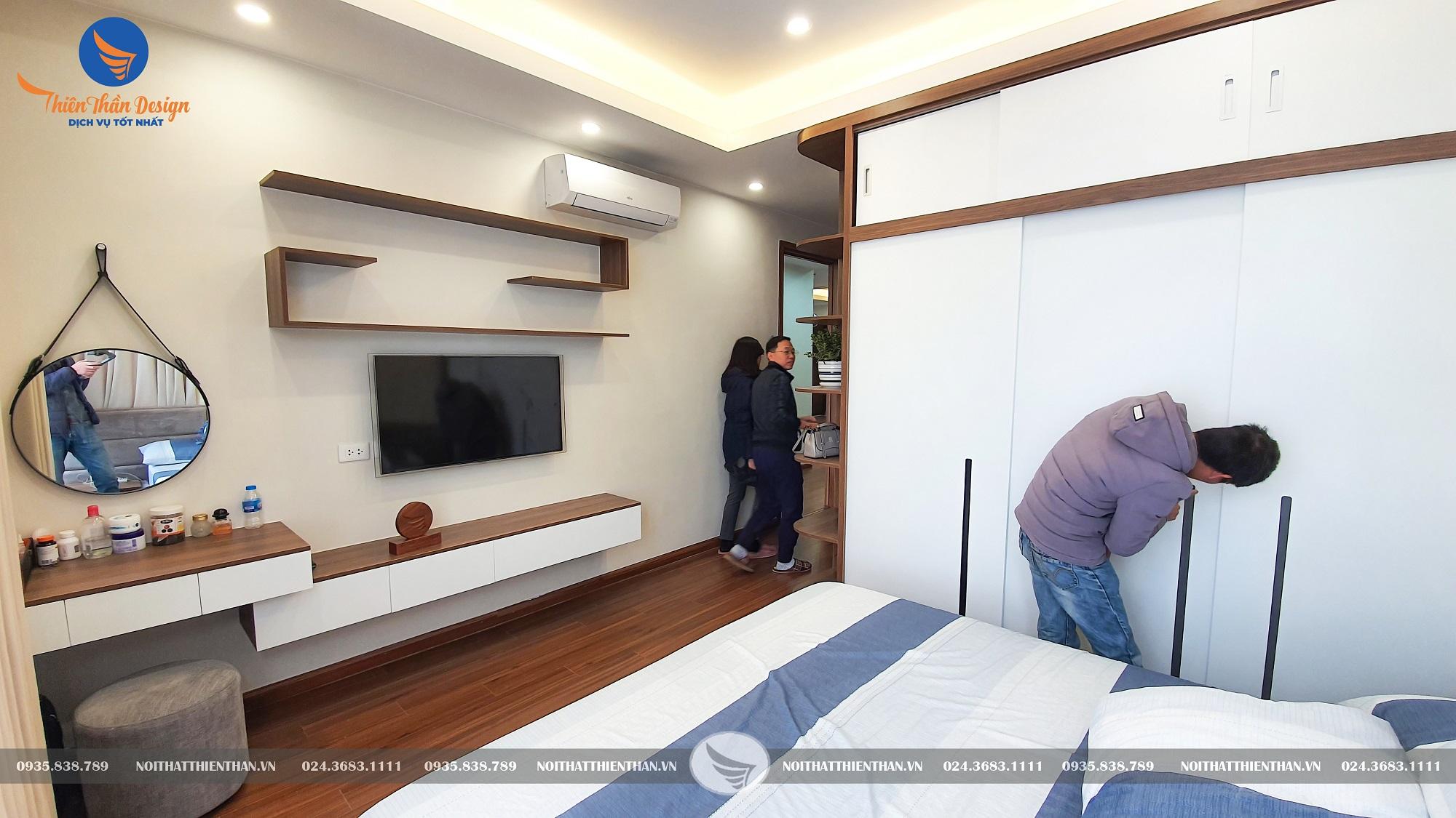 hoàn thiện nội thất chung cư phòng ngủ vợ chồng