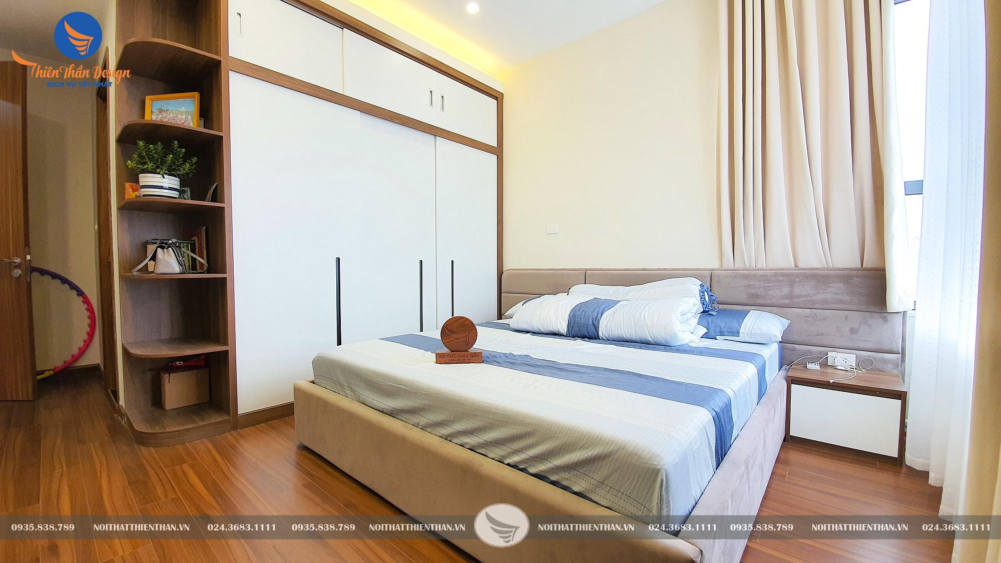 thi công nội thất chung cư trọn gói phòng ngủ sang trọng