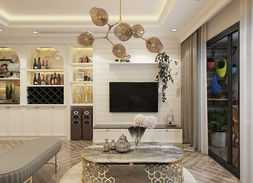 thiết kế nội thất chung cư phòng khách đẹp