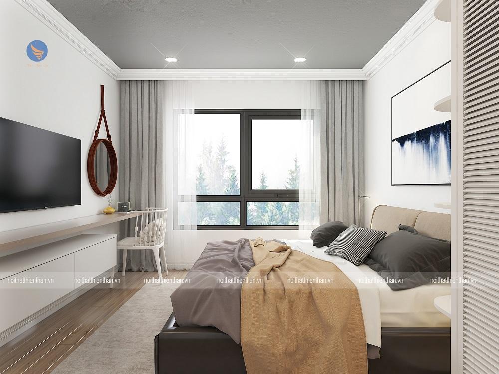 thiết kế căn hộ đẹp phòng ngủ vợ chồng