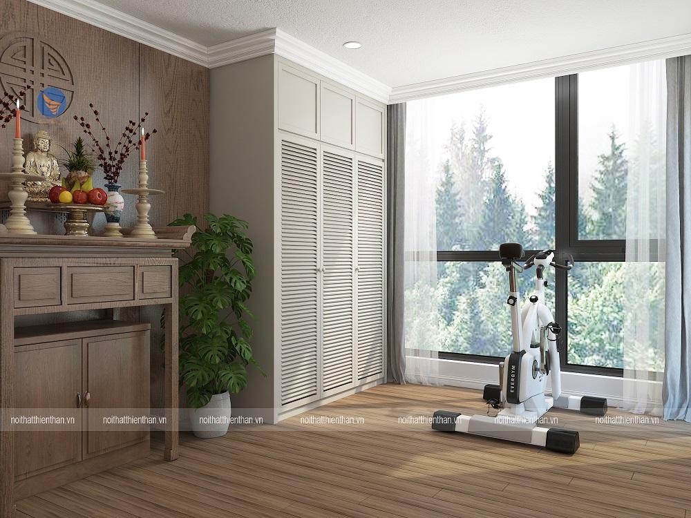 thiết kế nội thất phòng thờ trong căn hộ chung cư