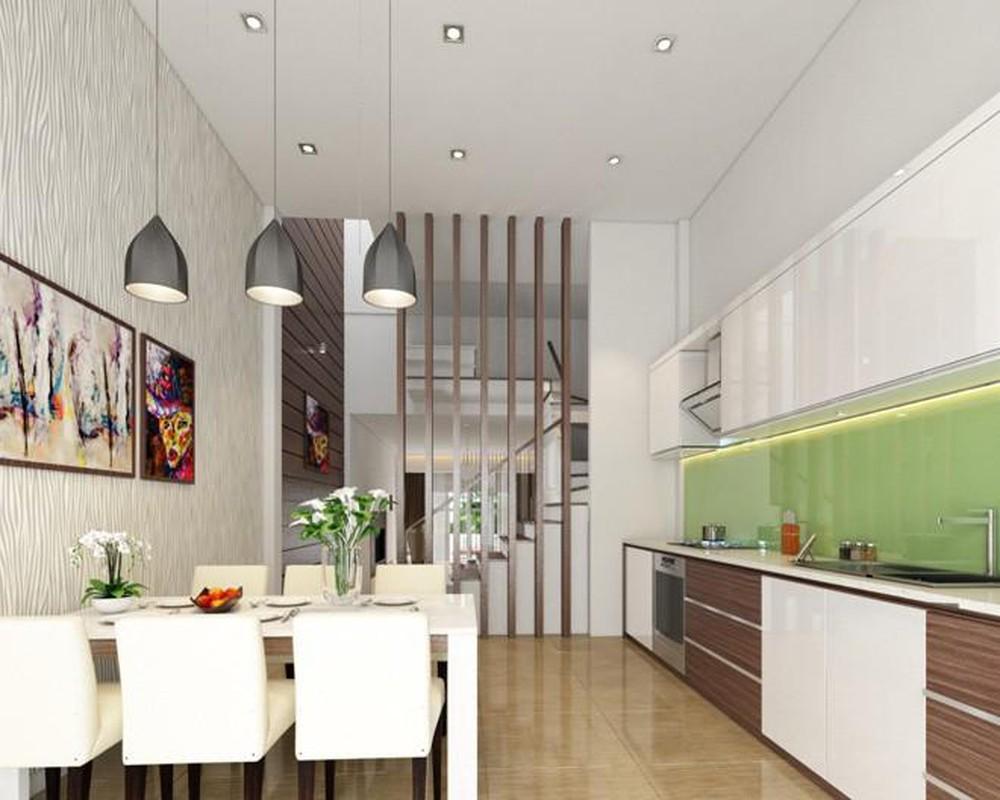 nhà ống phòng khách liên thông bếp