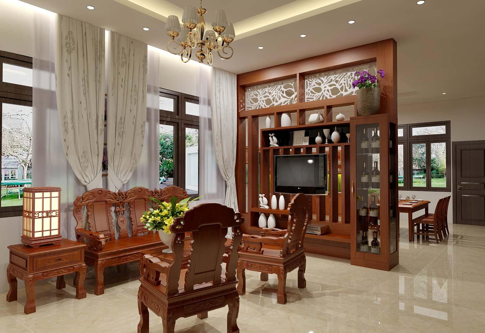 nội thất gỗ tự nhiên hiện đại đẹp