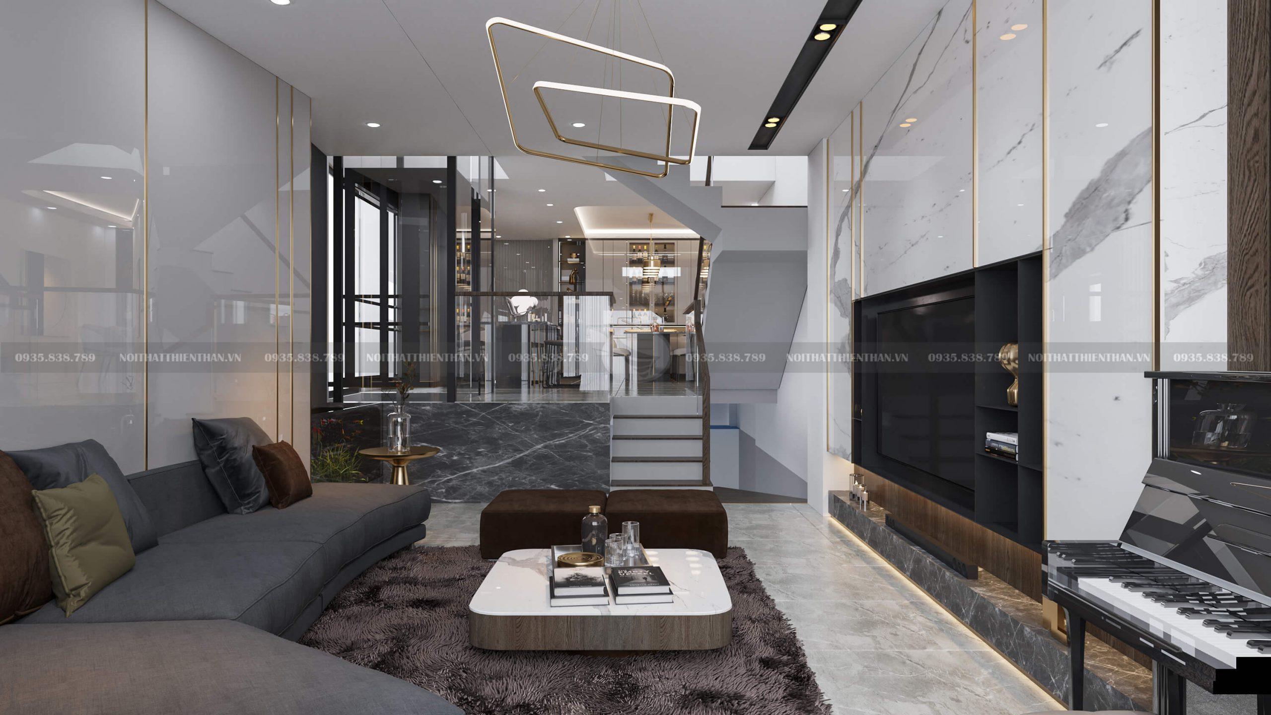 Thiết kế nội thất nhà ống 5 tầng