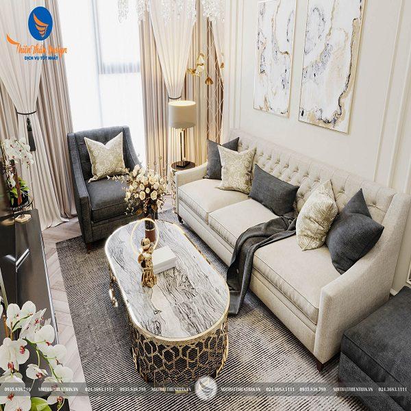 Thiết kế nội thất chung cư căn hộ King Place siêu sang