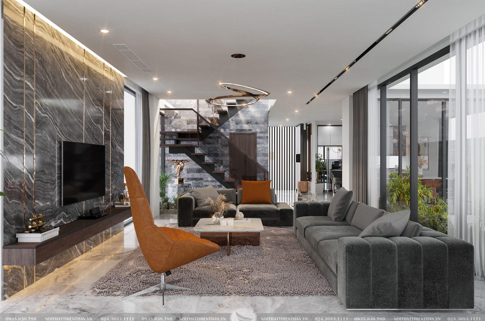 thiết kế nội thất biệt thự nghỉ dưỡng flamigo đại lãi