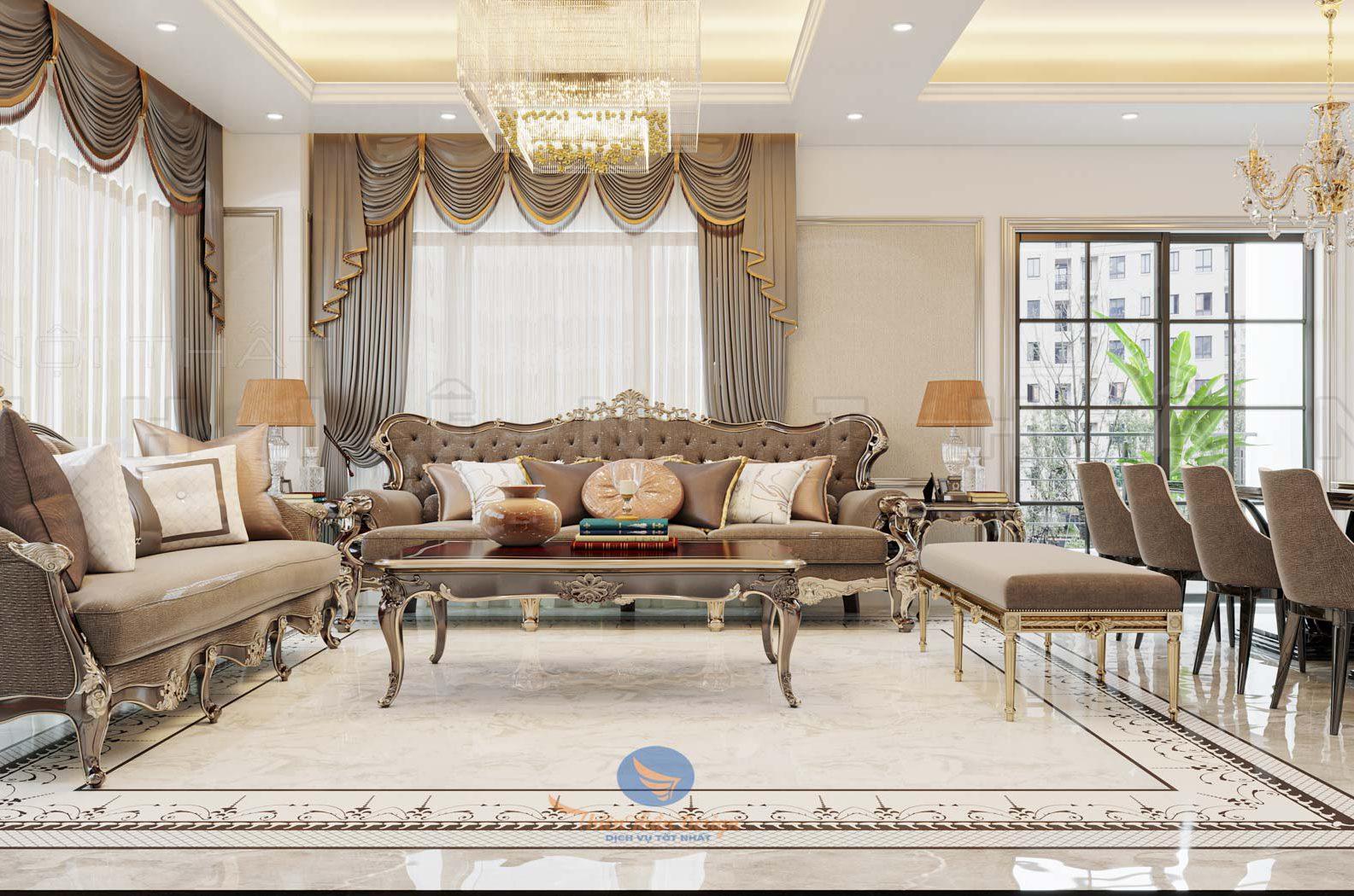 thiết kế nội thất căn hộ chung cư 150m2 splendora an khánh tân cổ điển đẹp nhất việt namt