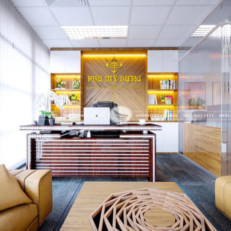 thiết kế phòng làm việc công ty Phú Mỹ Hưng